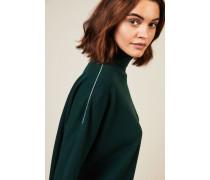 Oversize Woll-Seiden-Pullover Grün - Cashmere