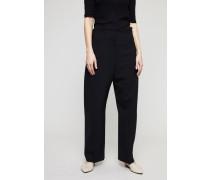Hose 'Le Pantalon Droit' mit weitem Bein Schwarz