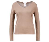 Pullover mit Glitzerdetail Nougat/Silber