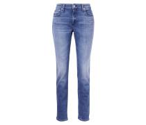 Low Rise Jeans 'Saphire' Blau
