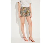Seiden-Shorts mit Print Multi