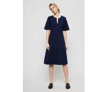 Kleid 'Jules' mit Stickdetails Navy