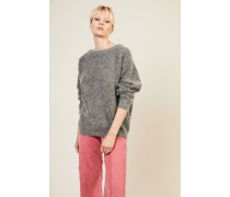 Oversize Mohair-Pullover 'Dramatic Moh' Grau