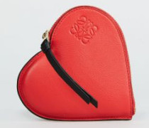 Herz-Pouch 'Cookie Heart' Rot - Leder