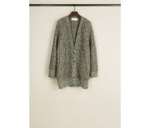 Oversize Woll-Cardigan Grau - Alpaca