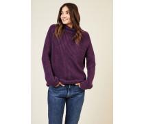 Cashmere-Rollkragenpullover 'Alabama' Violett
