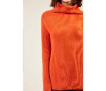Cashmere-Rollkragenpullover 'Alabama' Orange - Cashmere