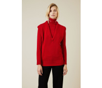 Cashmere-Woll-Pullover Rot - Cashmere