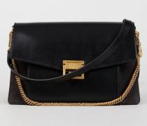 Schultertasche 'GV3 Medium' mit Goldelementen Black - Leder