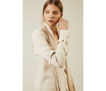 Seidenbluse mit Bindeelement 'Maple' Beige - Seide