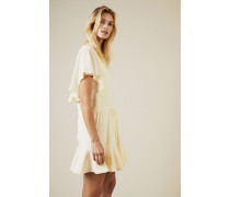 Kurzes Kleid mit Bindedetail Pearl - Seide