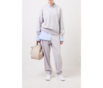 Klassischer Cashmere-Pullover Hellgrau