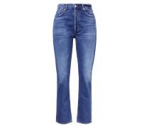 Highrise-Jeans 'Charlotte' Mittelblau