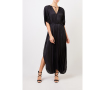 Langes Plissee-Kleid 'Nowra' Schwarz
