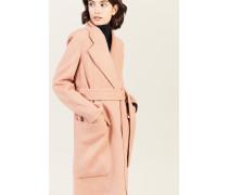 Woll-Cashmere-Mantel 'Carice' Rosé