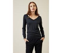 Cashmere-Seiden-Pullover Denimblau - Cashmere