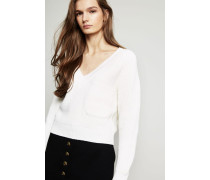 Cropped-Pullover Iconic Milk