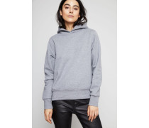 Sweatshirt mit Kapuze Grey Melange - 100% Baumwolle
