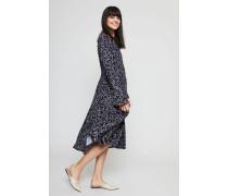 Midi-Kleid mit Wolkenprint Navy