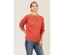 Grobgestrickter Pullover Orange - Cashmere
