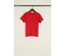 T-Shirt mit Doppel-Herz-Emblem Rot