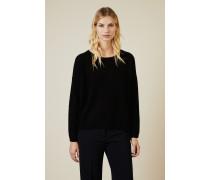 Oversize Cashmere-Pullover Schwarz