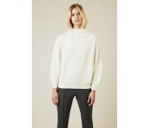 Oversize Cashmere-Pullover mit Turtle-Neck Weiß - Cashmere