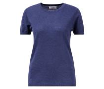 Cashmere Shirt Halbarm Dunkelblau