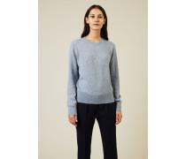 Cashmere-Seiden Pullover 'Minco' Hellblau - Cashmere