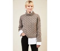 Cashmere-Pullover 'Aspen' Taupe - Cashmere