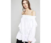 Baumwolltop Weiß - 100% Baumwolle