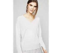 V-Neck Pullover Grau