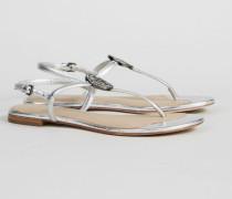 Sandale 'Liana Flat Sandal' Silber - Leder