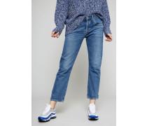 Premium Vintage Slim Fit Boyfriend 'Admire' Mittelblau - 100% Baumwolle