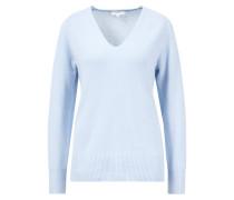 V-Neck-Pullover mit V-Ausschnitt Hellblau