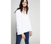 Tunika mit Saum-Detail Weiß - 100% Baumwolle