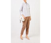 Klassische Baumwoll-Bluse 'Andrea' Grau Melange