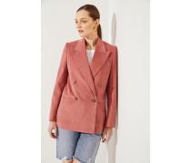 Baumwoll-Blazer mit Struktur Rosé