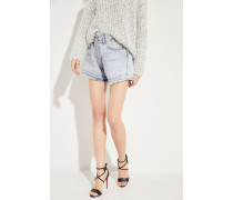 Jeans-Shorts mit Used-Look Blau