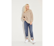 Cashmere-Strick-Pullover 'Berry' Braun