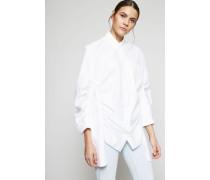 Oversized Bluse Weiß - 100% Baumwolle