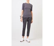 Klassisches Baumwoll-Shirt Grau