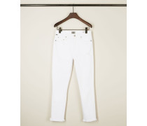 High Rise Skinny Jeans 'Rocket Crop' Weiß