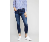 Super Skinny Jeans 'The Legging Ankle' Dunkelblau - Leder