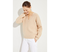 Woll-Cashmere Pullover Beige