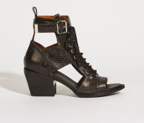 Ankle-Boots mit Cut-Outs Schwarz