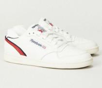 Sneaker 'ACT300' Créme/Rot - Leder
