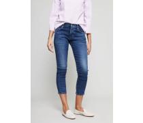 Slim Fit Jeans 'Elsa Mid Rise' Blau