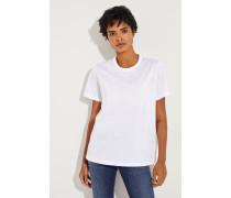 T-Shirt mit Logo Patch Weiß