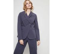 Gestreifter Baumwoll-Blazer Blau/Multi - 100% Baumwolle